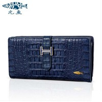 Yuanyu 2017 New Hot Free Shipping Card Bag Real Thailand Crocodile Leather Long Wallet Female Fashion