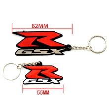 Motorcycle Accessories 3D Soft Rubber Keychain Key Ring Key chain keyring Stickers For Suzuki GSXR600 GSXR750 GSXR1000 GSXR 1300