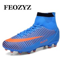 Size 39 46 Training Football Boots Cheap High Ankle Soccer Cleats Shoes Outdoor FG Superfly Soccer