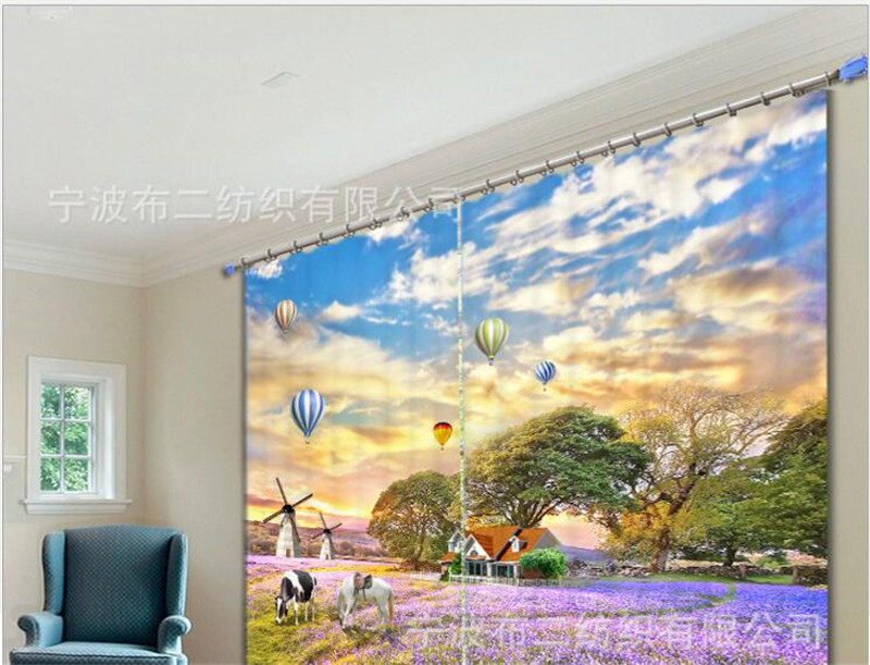 Beautiful Lavender Print 3D Curtains Drapes for Living room Bed room Office Hotel Home Wall Tapestry Custom Window CurtainsBeautiful Lavender Print 3D Curtains Drapes for Living room Bed room Office Hotel Home Wall Tapestry Custom Window Curtains