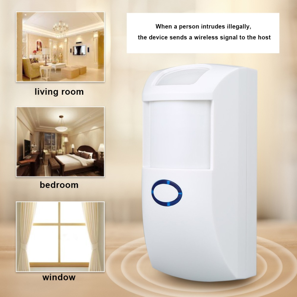 NEW 433 MHz 1527 Code Wireless Pet Immune PIR Motion Detector Sensor With White Color For Home Security For Our G5S Alarm System