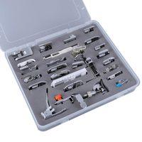 Home 52pcs Tool Sets Domestic Sewing Machine Braiding Blind Stitch Darning Presser Foot Feet Kit Set