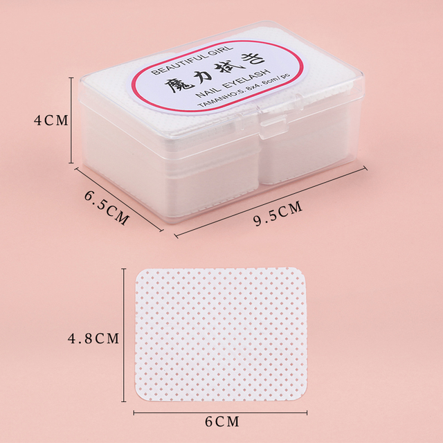 180pcs Lint-Free Paper Cotton Wipes Eyelash Glue Remover wipe the mouth of the glue bottle prevent clogging glue Cleaner Pads 3