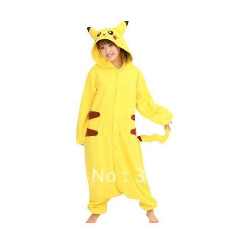 Free Shipping+Pokemon Pikachu Cosplay Costume XXS-4XL