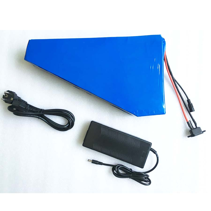 high quality Great Triangle electric bike battery 48v 12ah Samsung cell lithium ion for 750w 1000w motor ebike scooter kit + bag 48v 30ah triangle style lithium battery rechargeable 48v 1000w electric bike battery with triangle bag bms for samsung cell