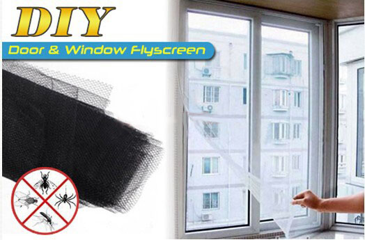 Brand New 1pcs Insect Fly Mosquito Window Net Mesh Screen 150x130cm