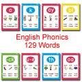 129 palabras inglés fonics Root normas de pronunciación resumen aprendizaje juguetes educativos para niños regalos de enseñanza