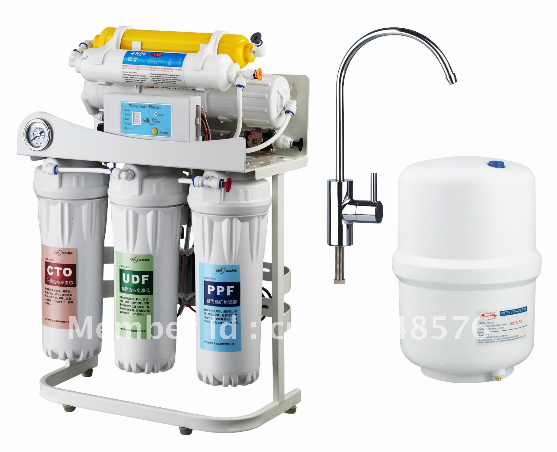 6 stages water filter with shelf and pressure gauge in Water Filters
