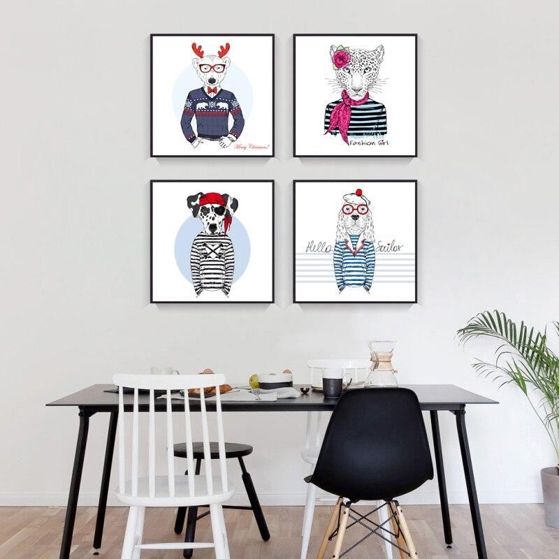 Tiere Deer Leinwand Malerei Hund Kaninchen Bär Kunstdrucke Poster ...