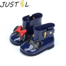 JUSTSL модные резиновые сапоги для мальчиков и девочек с героями мультфильмов; Детские водонепроницаемые резиновые сапоги; детская нескользящая обувь