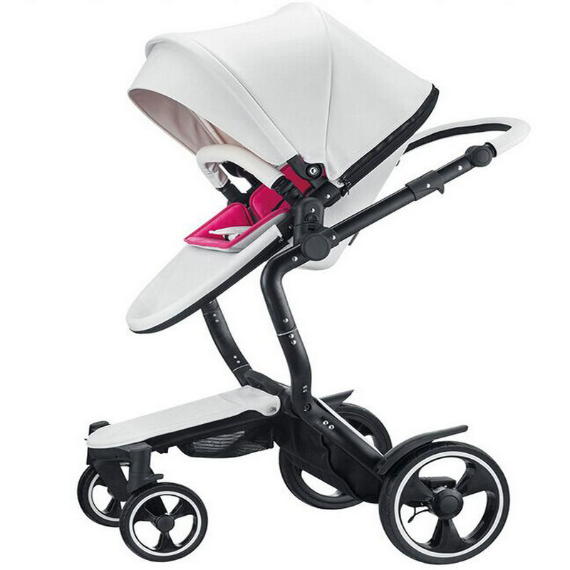 2 in 1 baby strollers foofoo baby car leather with sleeping basket newborn baby carriage free 3 in 1 baby strollers light baby car sleeping basket newborn baby carriage 0 36 months europe baby pram carriage five color