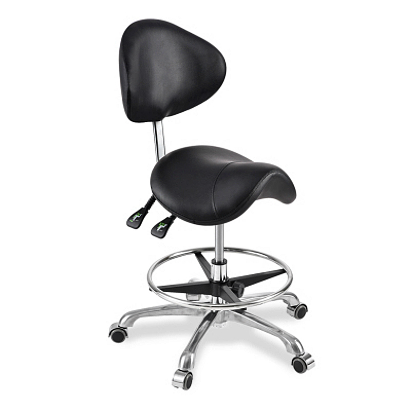Creative Saddle Chair Lifted Cosmetology Haircut Stool Slidable Tattooc Swivel Chair With Footrest Adjustable Ergonomics Seat