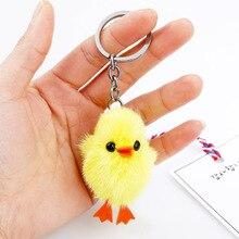 Samyueng Cute Plush Key Chains for Best Friends Chick Anime Keychain Male Porte Clef Women's Bag Key Keyring Key Holder Souvenir