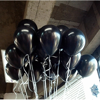 100pc/Lot 10' Inch1.5g  Black Latex Helium Balloons Thickening Pearl Wedding Par