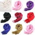1pc Women Wool Blend Long Scarf Tassels Warm Scarves Winter Warm Soft Wrap Shawl New -Y107