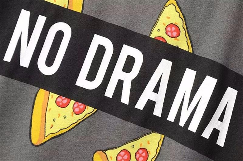 HTB1HklcOpXXXXXxaXXXq6xXFXXXY - No Drama Pizza Print Women T Shirts Short Sleeve