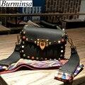 Hot Rivet Small Flap Crossbody Del Hombro Bolsas Diseñador de la Marca de Embrague de Las Señoras Bolsos de Mano de Alta Calidad de Cuero de LA PU Mujeres Bolsas de Mensajero