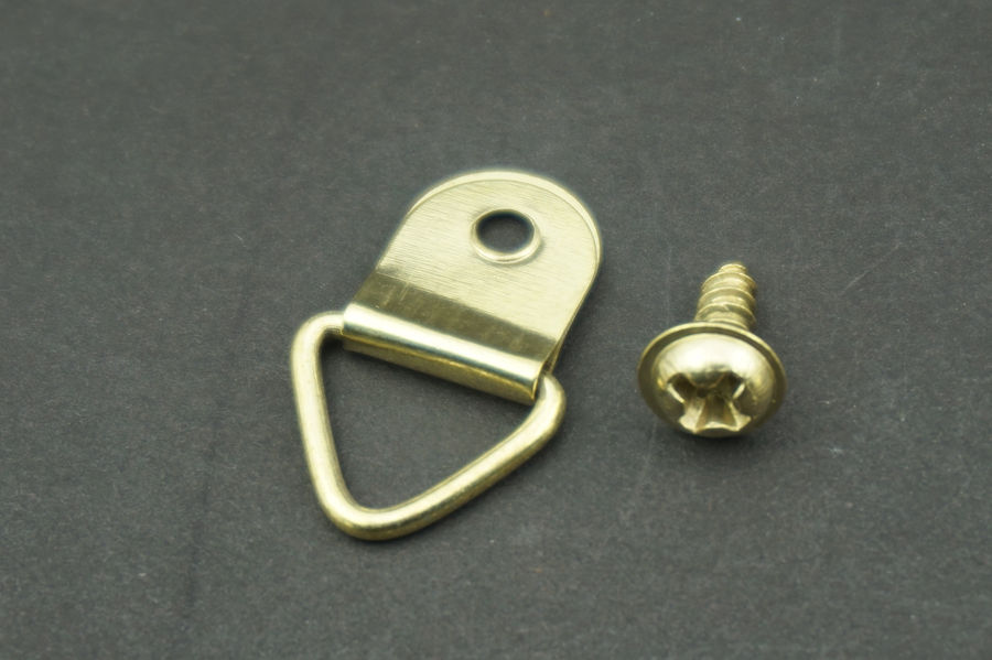 100pcslot triangle d ring hanging picture frame hook painting mirror hanger screw