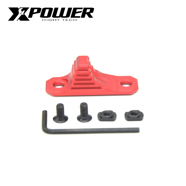 XPOWER 단계 5 스타일 M Lok Handstop AEG Airsoft 액세서리 용 CNC 알루미늄 합금 J8 기어 박스 젤 블래스터 에어건 전술