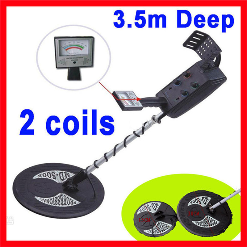 MD-5008 Under ground metal detector,gold detector Big coil and small coil+ Free Shipping  цены