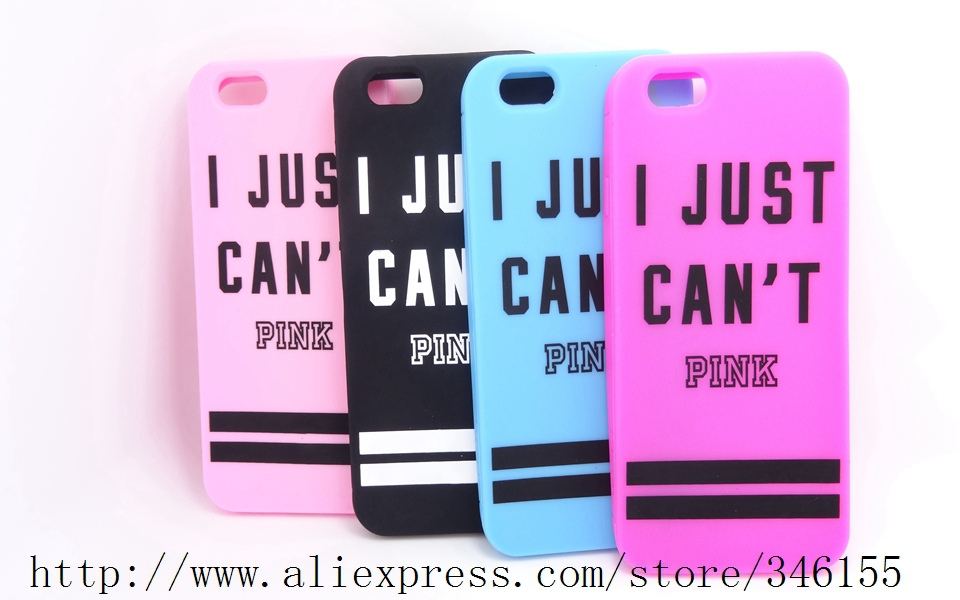Fashion Victoria/'s Secret PINK Stripe Soft Rubber Case Apple iphone 6 6G 4.7inch Luxe Cell Phone Skin Silicone Covers - Shen zhen HW (3C store Digital Accessories Company)