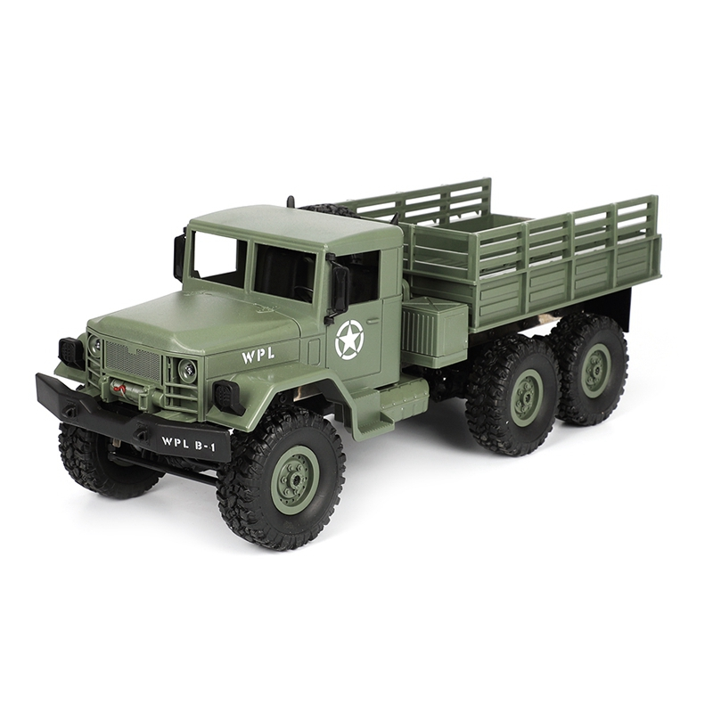 2018 New WPL B 16 1 16 2 4G 4WD Off Road RC Military Truck Rock Crawler Army Car in RC Cars from Toys Hobbies