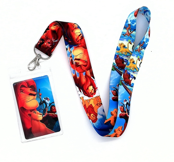 1 Pcs  Lion King  Neck Strap Lanyards Card Holders Bank Neck Strap Card Bus ID Holders  Rope Key Chain Gift K10
