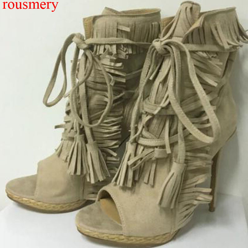 Hot Factory Spread Eagle Embroidery Martin Ankle Boots Antiskid Thick Sole Women Flat Buckled Tassel Rivets Studs Bottines Shoes pollutants spread around gweru dump site