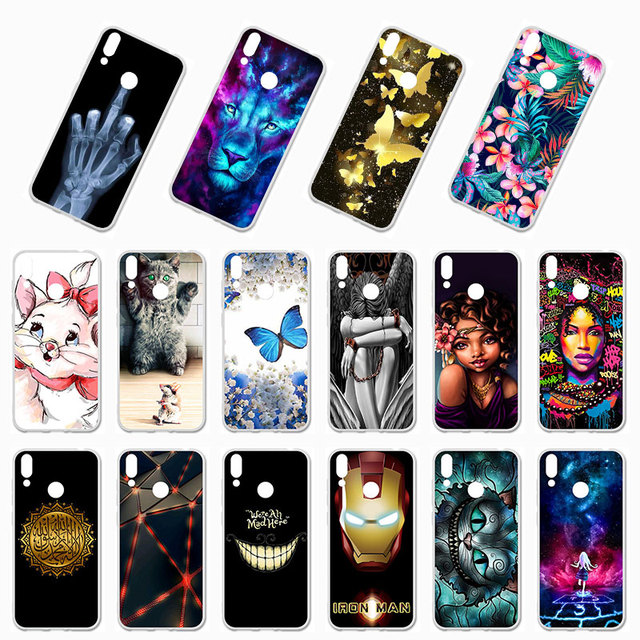 Ojeleye Soft TPU Phone Case For Huawei Honor 8C Cases Silicone DIY Painted Bumper For Huawei Honor 8C BKK-L21 Cover Fundas Coque