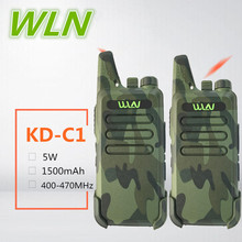 2PCS WLN KD-C1 Mini Walkie Talkie clip  Camuflado 5W UHF Ham radio japan CB Radio Long Range HF Amateur Transceiver USB Charge BAOFENG BF-T1 walkie talkie wln kd-c1