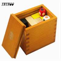 YNYNOO Montessori Educative Wooden Puzzle Toys Pandora Box Toy Early Educational Learning Kids Toy Montessori Wooden