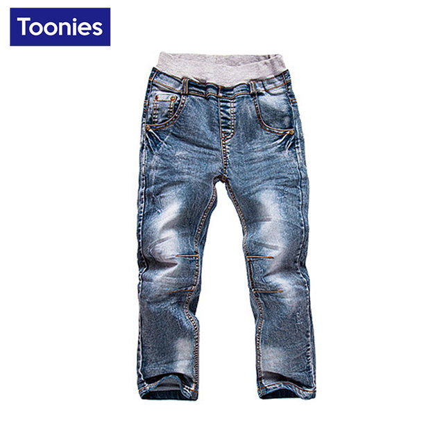 Niños Ropa Niños Jeans Niños Pantalones Vaqueros 2017 nueva moda de Otoño pantalones de Mezclilla para Niños Pantalones de Niño Chico 3-5 T