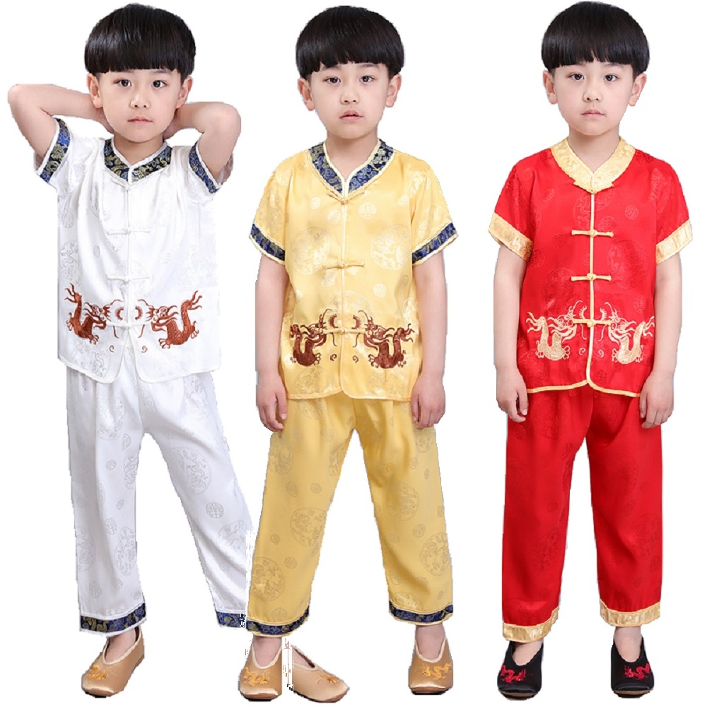 Chinese Spring Festival Traditional Children Tang Clothes