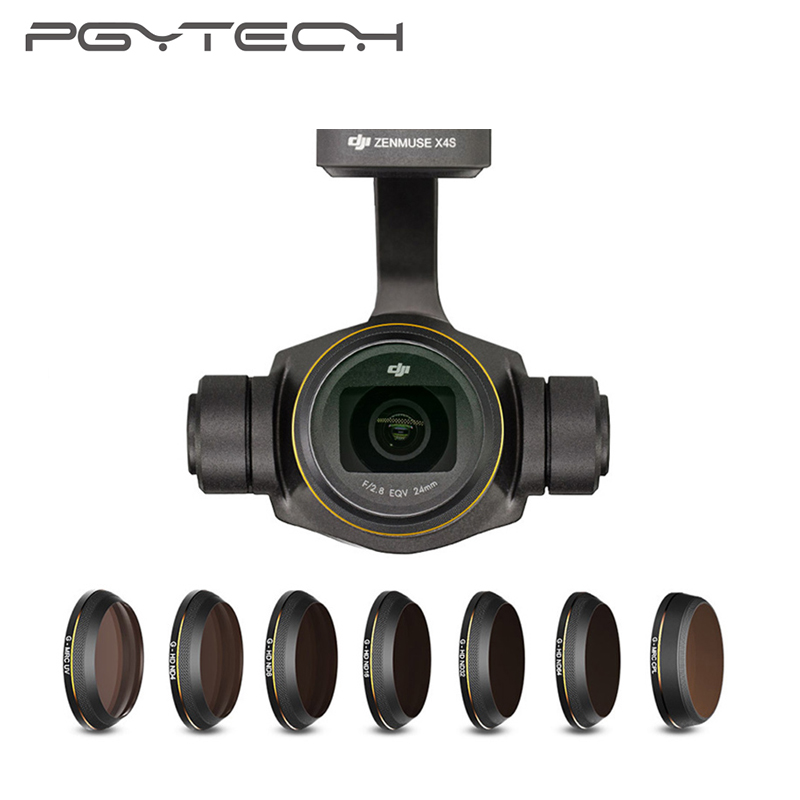 PGYTECH DJI Inspire 2 Gimbal Camera Lens Filter UV /CPL /ND4 /ND8 /ND16 /ND32 /ND64 Gold-edge Filters for Inspire 2 X4S