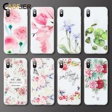 CASEIER Embossed Phone Case For Huawei P20 Mate 20 10 Lite Pro Flowers TPU Mobile  9 Nova 2