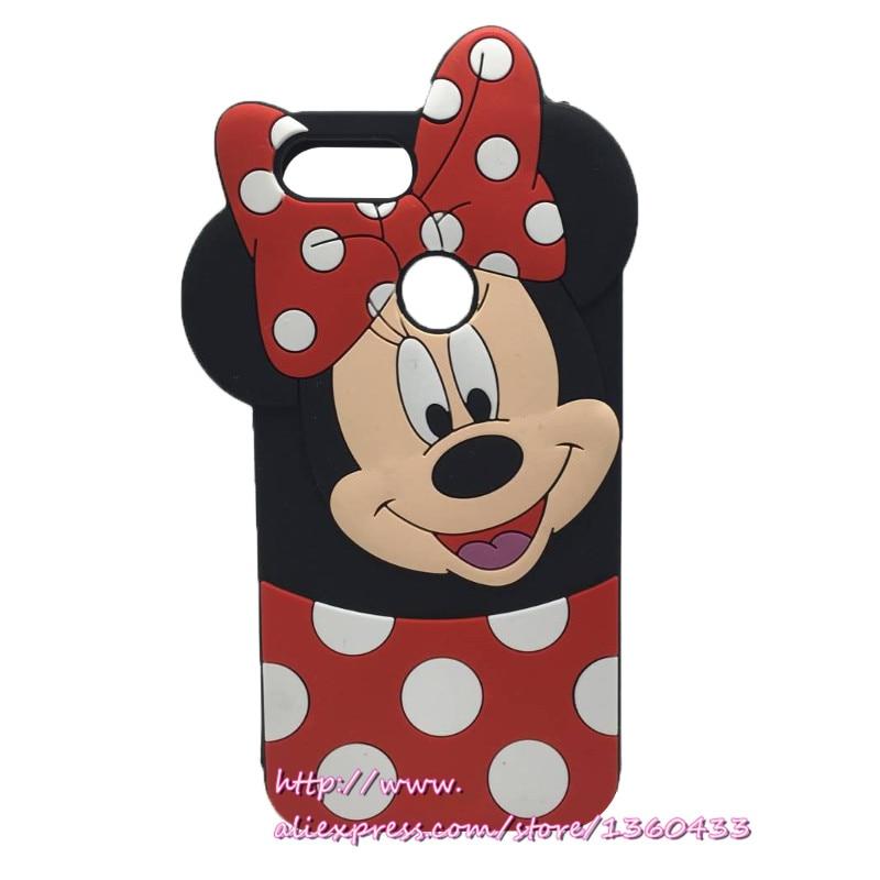 For Xiaomi MI A1 Mi5X Cartoon Case Soft Rubber Coque Funda Phone Case For Xiaomi Mi 5x 5 x mi5x 3D Minnie Mouse