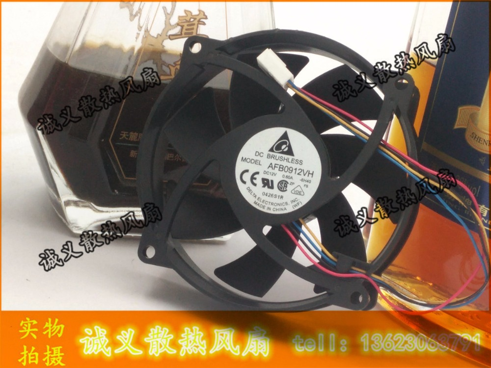 Free Shipping!!DELTA Chassis power supply fan AFB0912VH 12V 0.60A Round Rack 9025 9225 90*90*25MM 92*92*25MM nmb new and original fba09a12m 9025 9cm 12v 0 2a chassis silent cooling fan 90 90 25mm