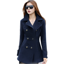 New 2016 Autumn Winter women Coats Slim Women's woolen coats jackets  female jacket Fashion Lady Outerwear & Coats G1237