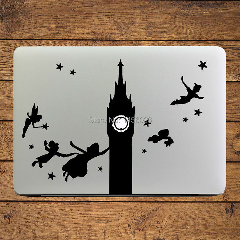 "Peter Pan & Wendy Off to Neverland Laptop Decal Sticker voor MacBook Air / Pro / Retina 11 ""12"" 13 ""Mac Mac Cover Notebook-huid"