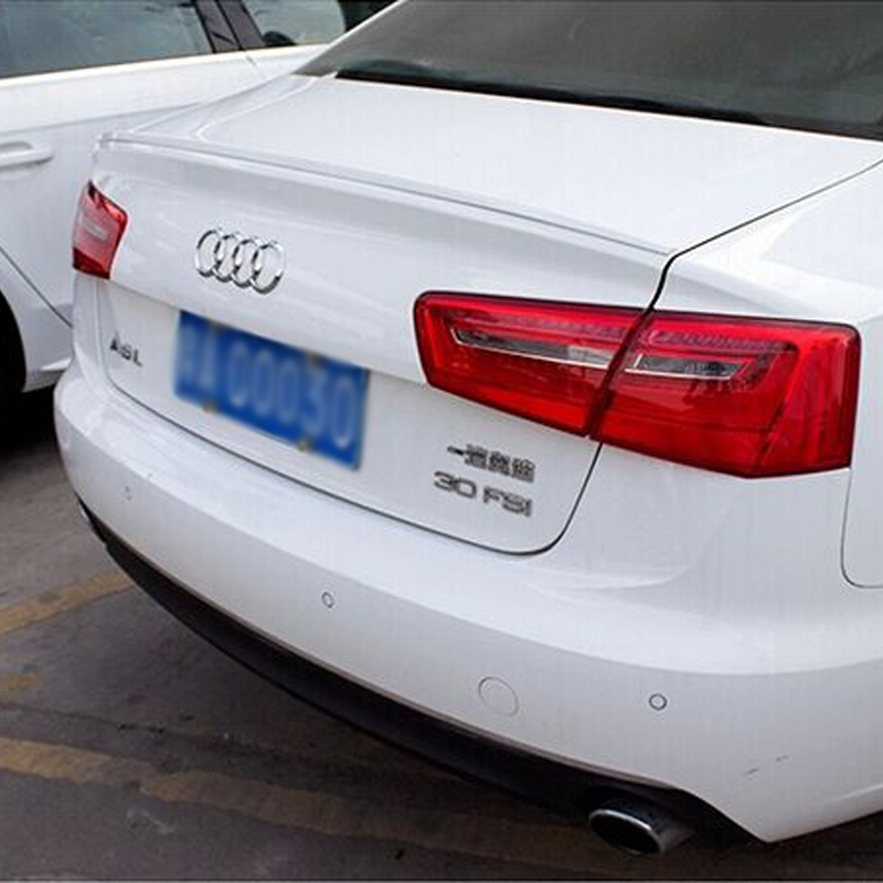 A6 C7 Modified S6 Style ABS Primer Rear Trunk Lip Spoiler Car Wing for Audi A6 C7 2012 2013 2014 2015 c primer c primer