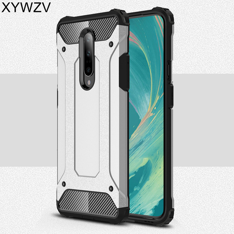For Oneplus 7 Case Shockproof Bumper Phone Case Armor Rubber Hard PC Phone Case For Oneplus 7 Back Cover For Oneplus 7 Fundas in Fitted Cases from Cellphones Telecommunications