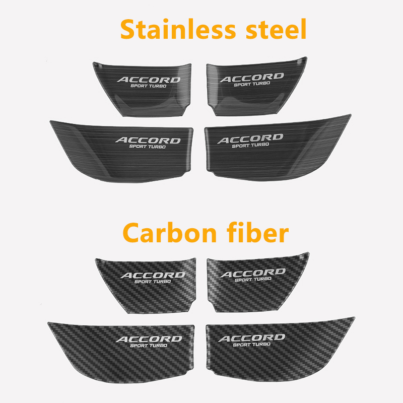 Image 3 - Stainless Steel Car styling interior Door wrist Bowl Cup Trim Sticker Covers For Honda Accord 10th 2018 Accessories-in Interior Mouldings from Automobiles & Motorcycles