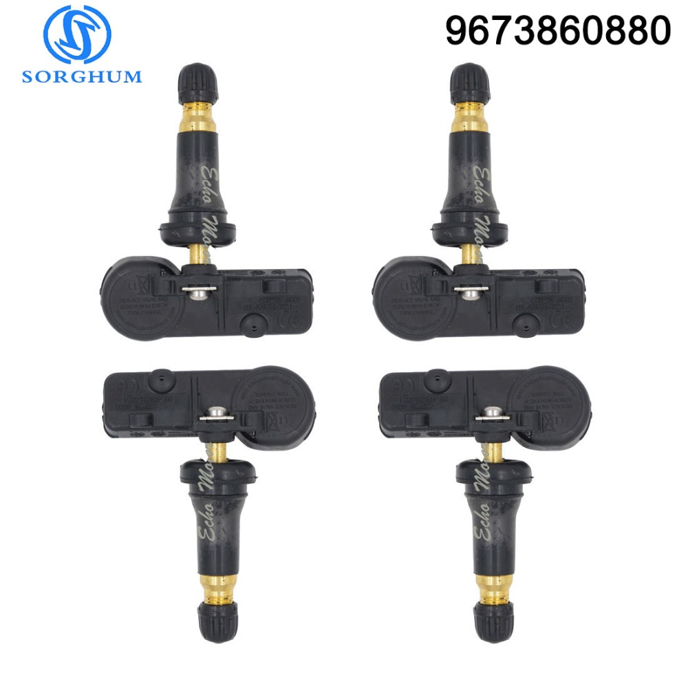 4 pcs 9673860880 TPMS Sensor Tyre Tire Pressure Monitor System 433 MHZ For Peugeot 307 T5 308 T7 3008 T84 5008 W24 RCZ T75|Tire Pressure Monitor Systems| |  - title=