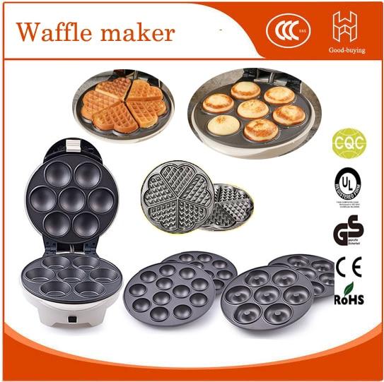 Kitchen Home 4 in 1 cake pan hot sale iseal donut machine cuocake pop sugar heart waffle maker