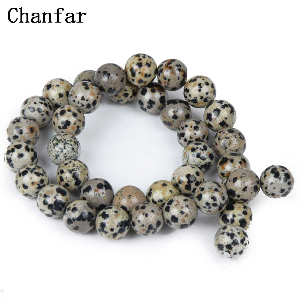 Spot Balmatine Stone Women Jewelry Fashion Making Loose Beads 4 6 8 10 12mm