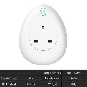 Image 5 - Wifi tomada inteligente com dom gratuito de carregamento cabo 16a eua ue reino unido índia israel plug voz controle remoto trabalho com alexa tuya app