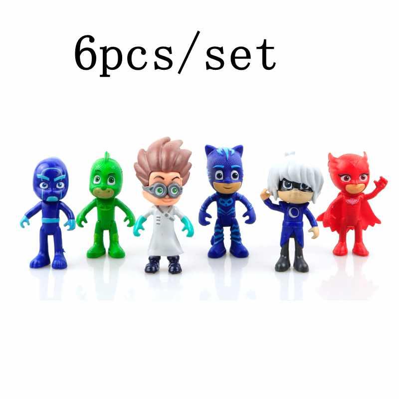 8-9cm Pj Catboy Owlette Gekko Cloak Masks Action Figure Toys 18 8 9cm