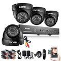 ZOSI 1000TVL 8CH Sistema de CCTV DVR 960 H 4 PCS IR À Prova de Intempéries Ao Ar Livre Câmera de CCTV Home Security Sistema de Vigilância Kits