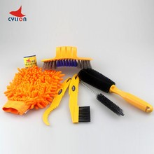 Check Discount 2017 New Bicycle Chain Cleaner Cycling Clean tire Brushes Tool kits set Mountain Road Bike Cleaning gloves Accessories 6pcs/lot