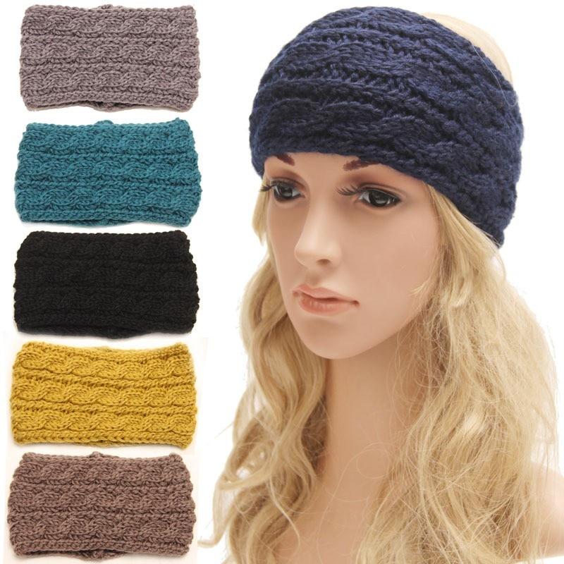 298e95574f03 Click here to Buy Now!! Femmes lady turban bandeaux crochet noeud bandeau  en tricot ...
